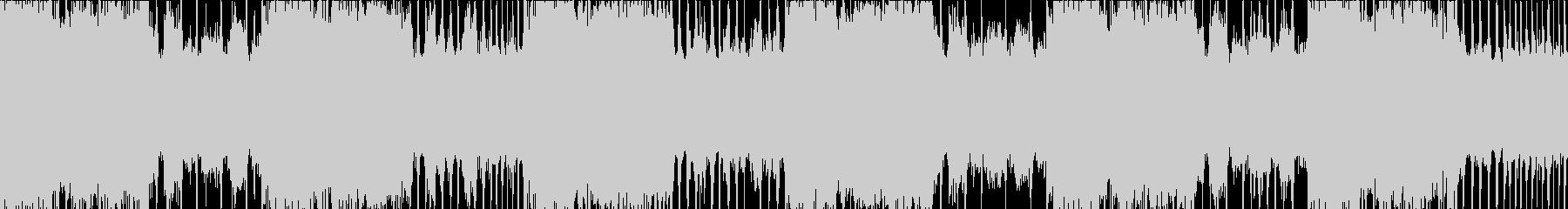 ロックメタル風のヘヴィーLOOP BGMの未再生の波形