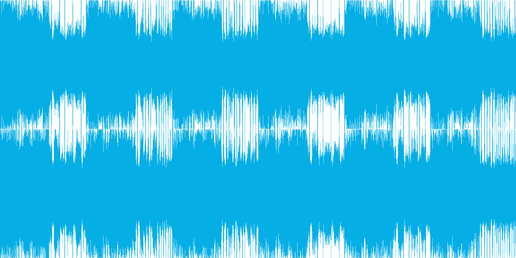 ロックメタル風のヘヴィーLOOP BGMの再生済みの波形