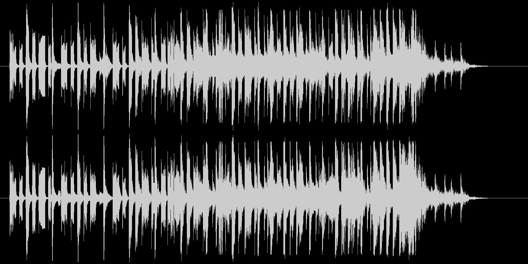 深夜のラジオで流れてきそうなジングルの未再生の波形
