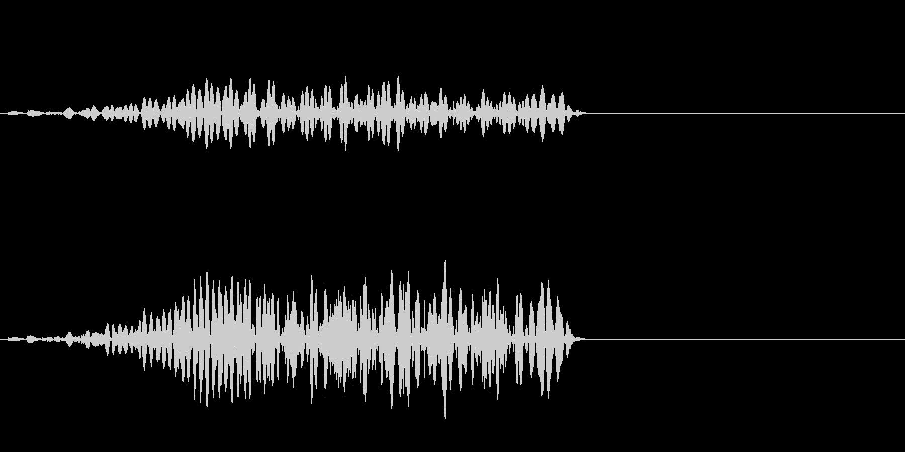 ホラー系SE(ブゥーォ)の未再生の波形