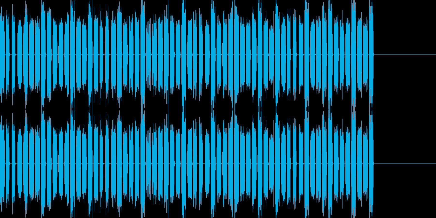 ロボット音03の再生済みの波形