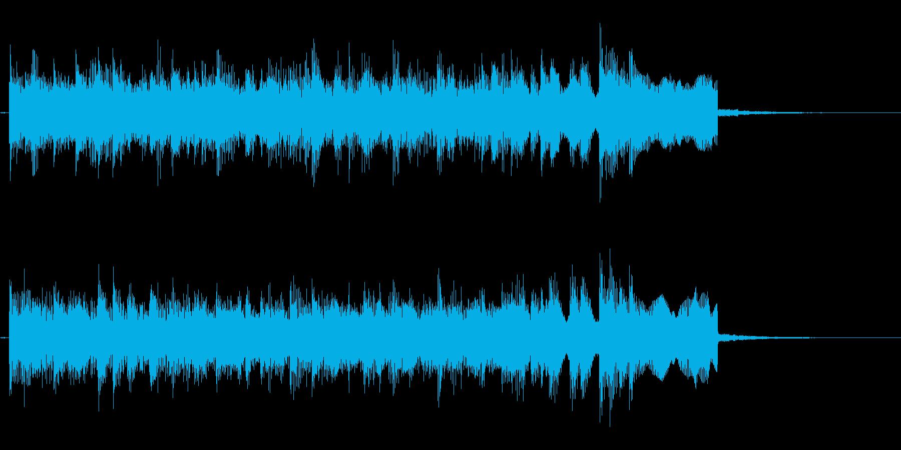 シンセ メタルフレーズのジングル 軽快版の再生済みの波形