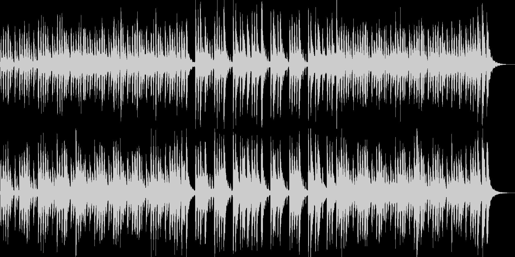 ほのぼの雰囲気のかわいらしいポップBGMの未再生の波形