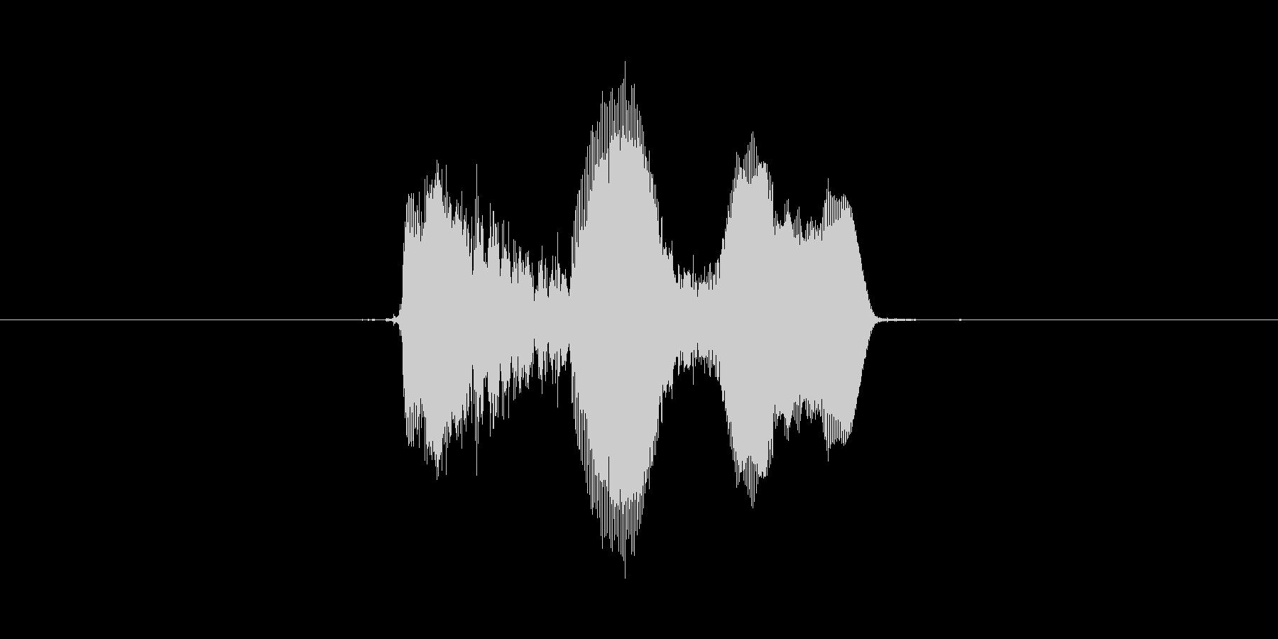 キャハハッ(明るい笑い声)の未再生の波形