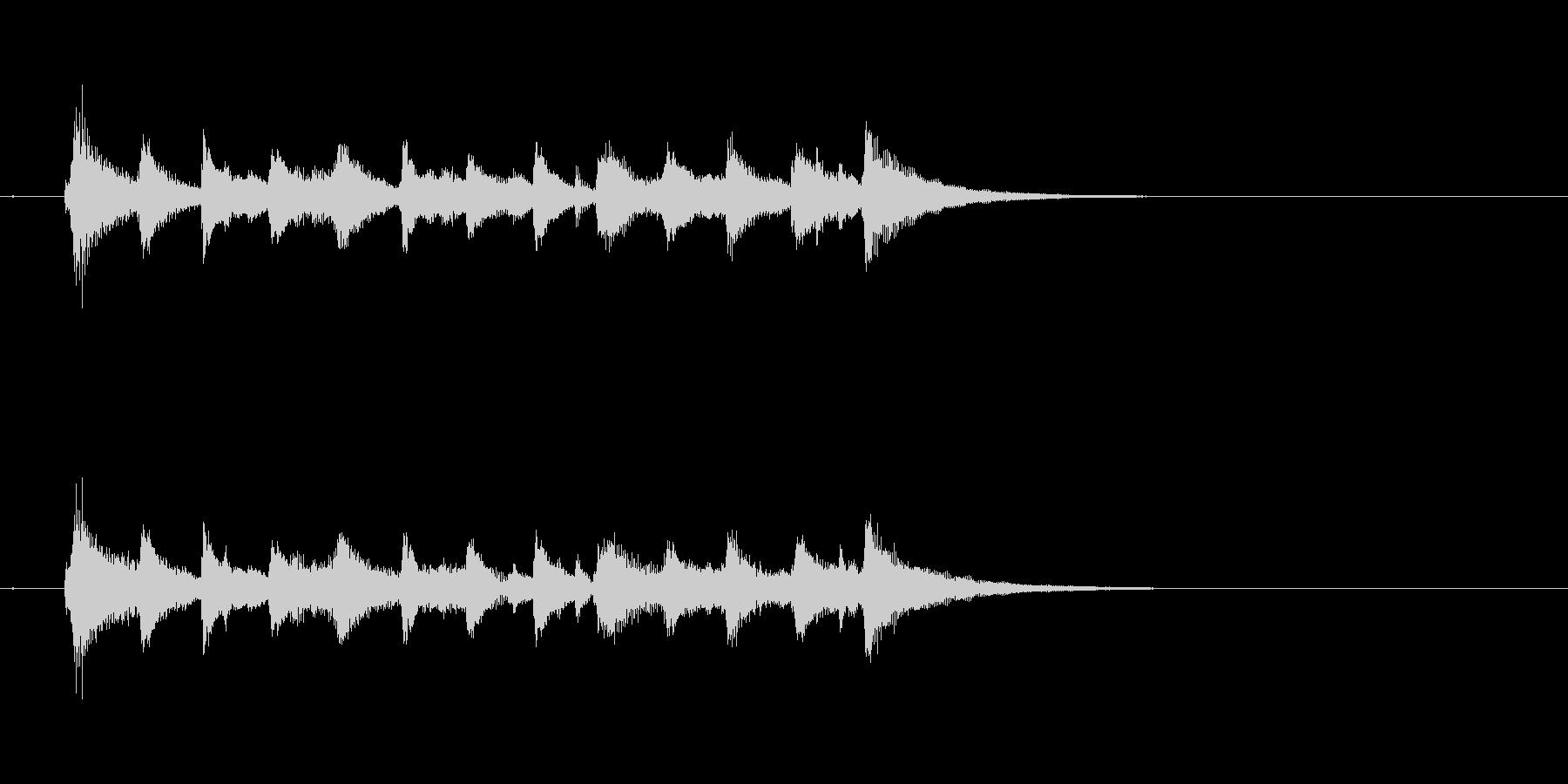 ジャズ 大人 ピアノ 夜 ウッドベースの未再生の波形
