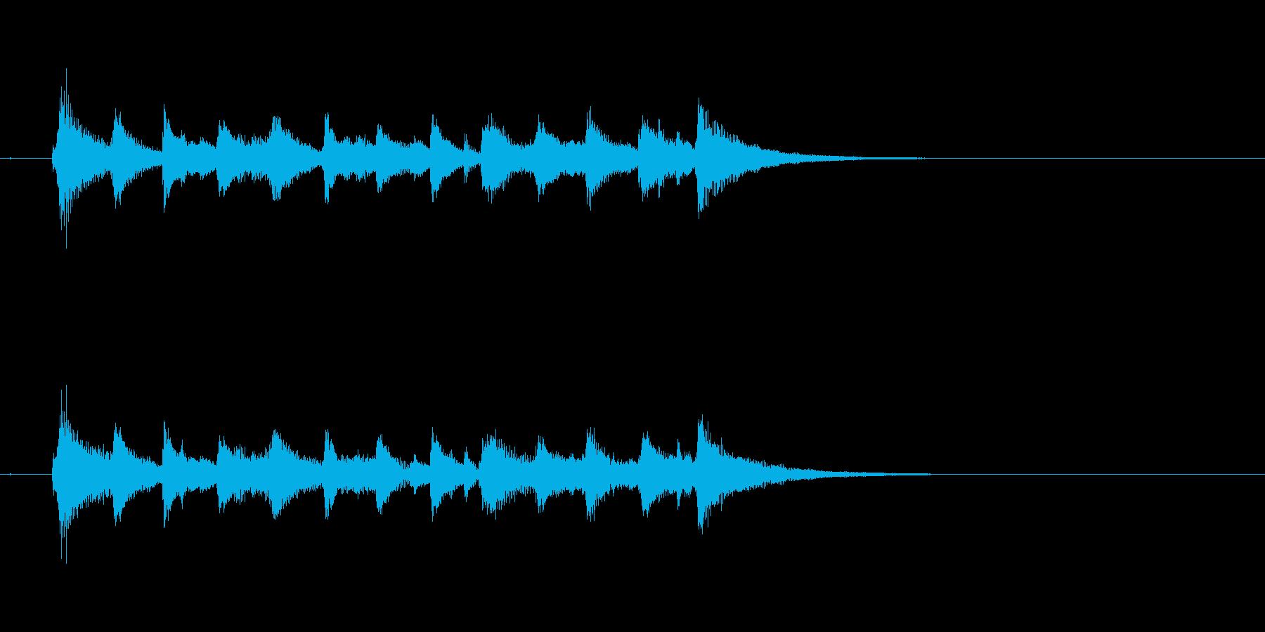 ジャズ 大人 ピアノ 夜 ウッドベースの再生済みの波形