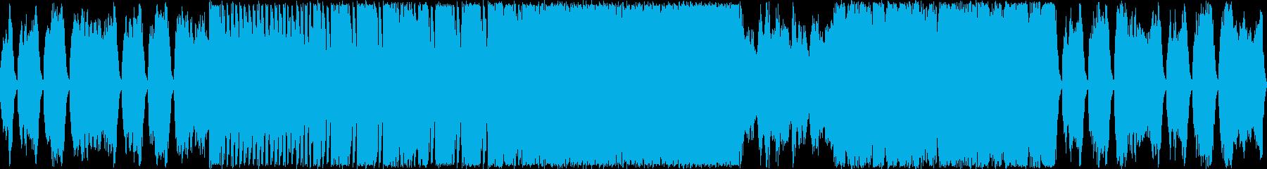 ミステリアスな弦楽ワルツ風の再生済みの波形