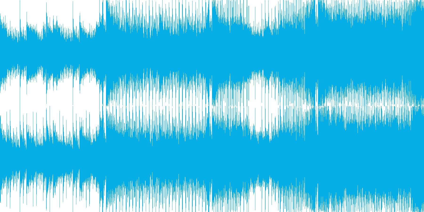 前向きで爽やかなポップス【ループBGM】の再生済みの波形