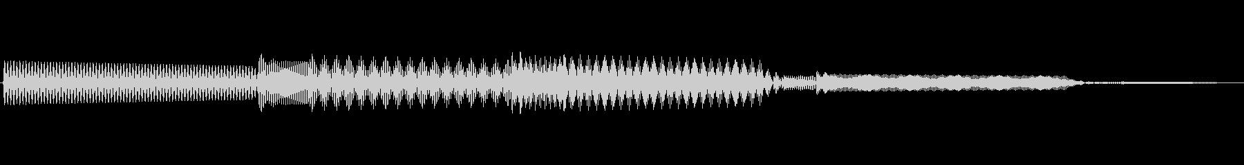 ボタン決定音システム選択タッチ登録A03の未再生の波形