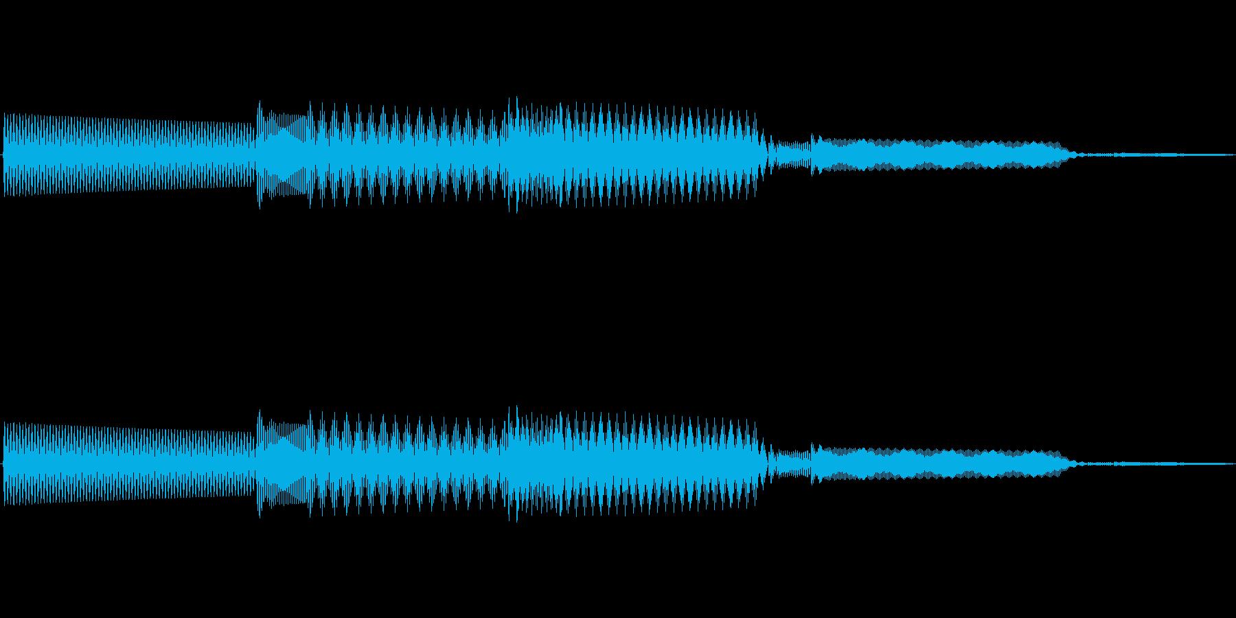 ボタン決定音システム選択タッチ登録A03の再生済みの波形