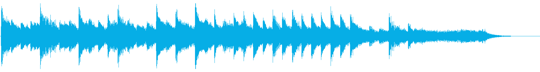 8bitなエンディング ピコピコジングルの再生済みの波形