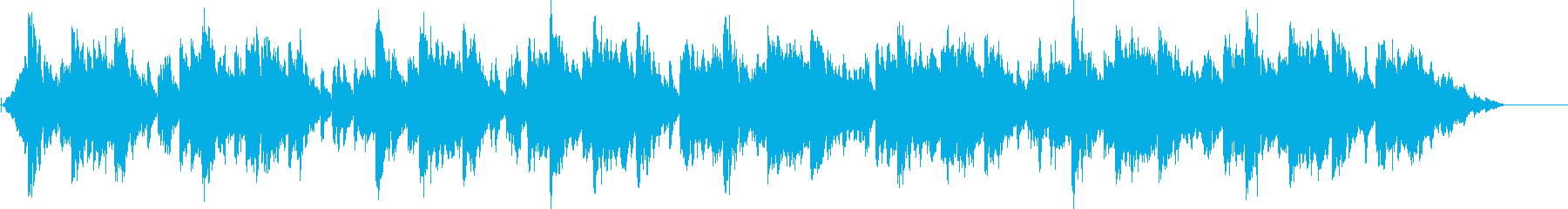 和風かつ疾走感のあるテンポ速めのテクノの再生済みの波形