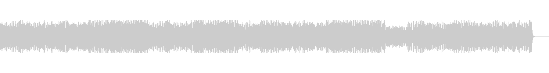 疾走感のあるシンセとピアノ主体の曲の未再生の波形