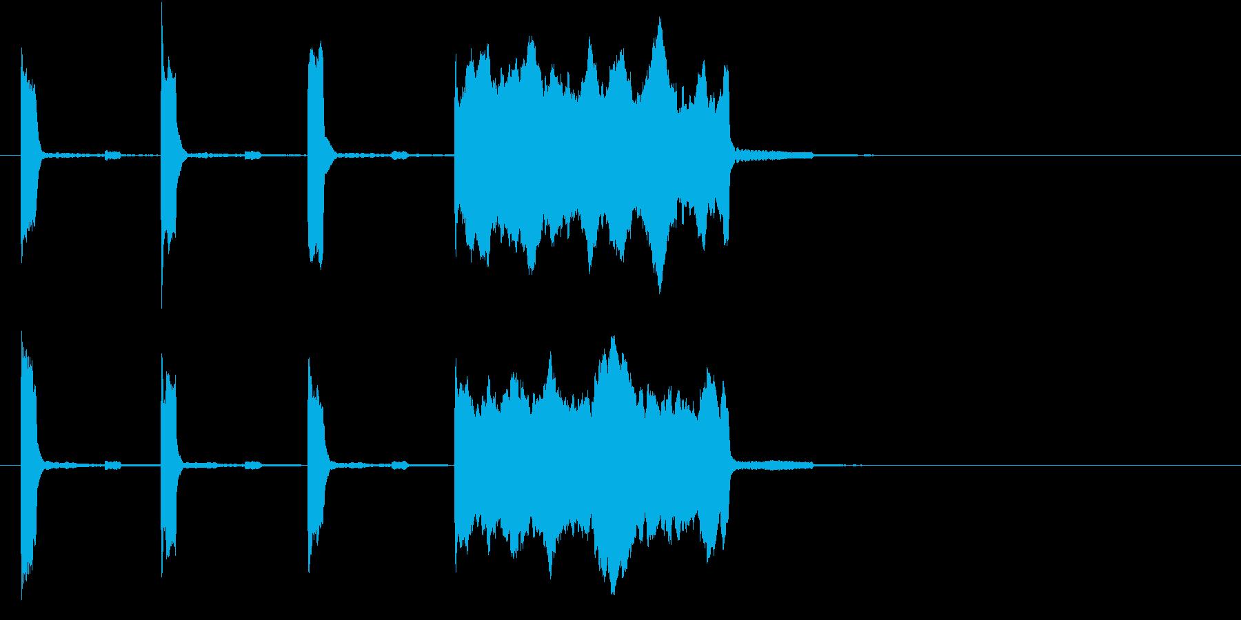 高音の時報(ピッピッピッピー)の再生済みの波形