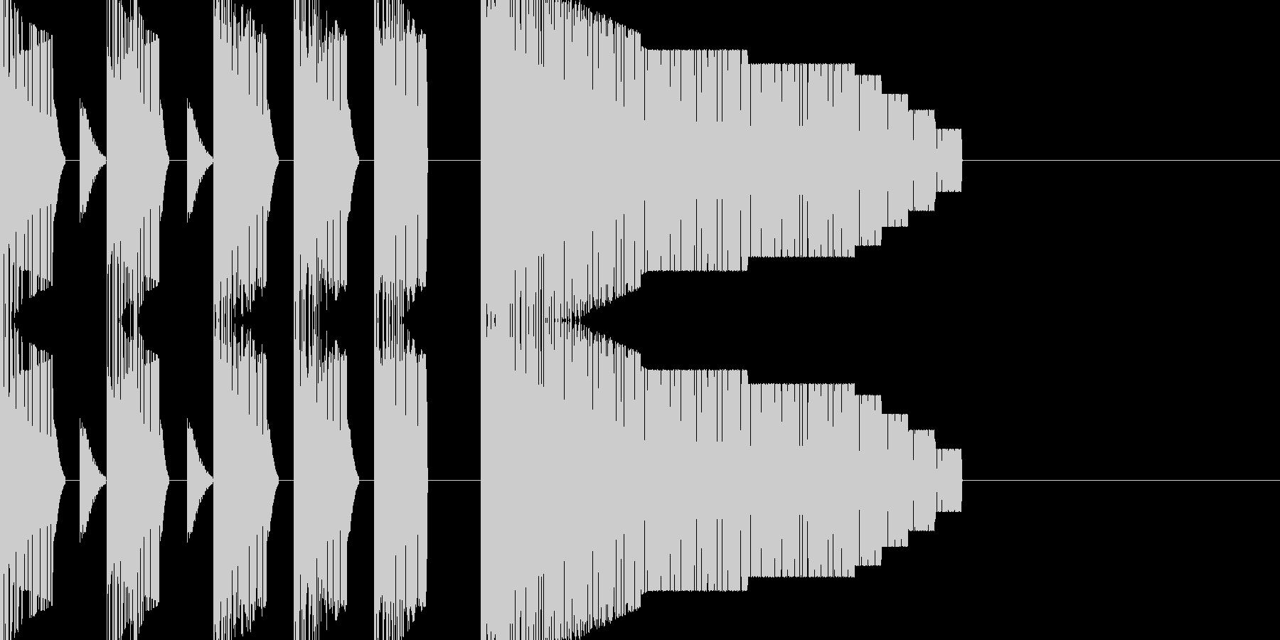 ステージオープニング風チップチューンの未再生の波形