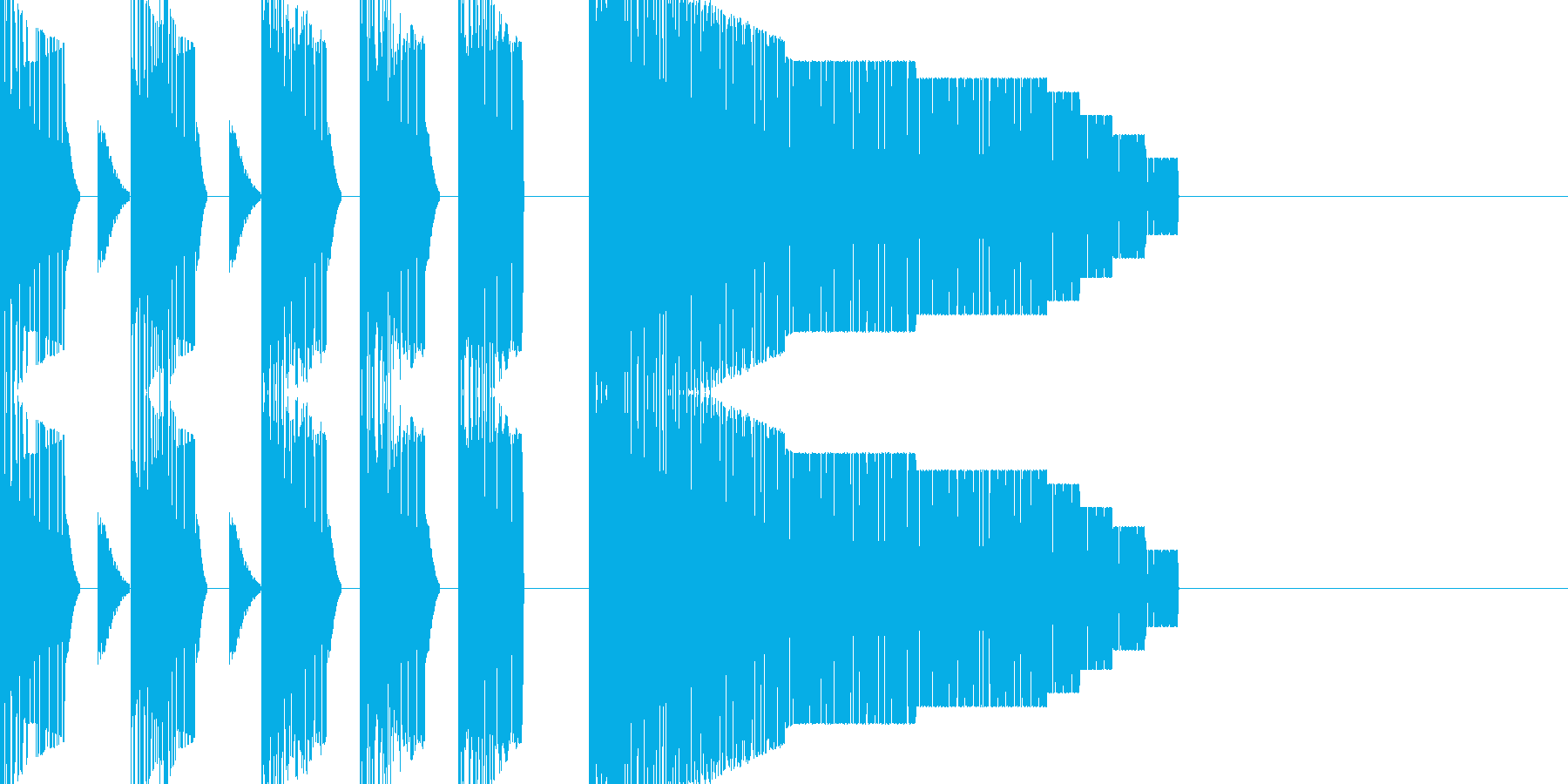 ステージオープニング風チップチューンの再生済みの波形