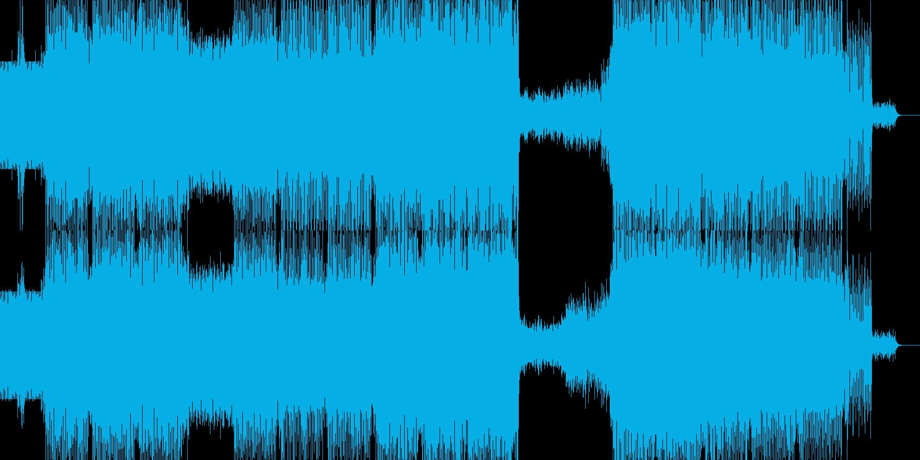 テコテコとシンセの音が心地よい映像やパ…の再生済みの波形