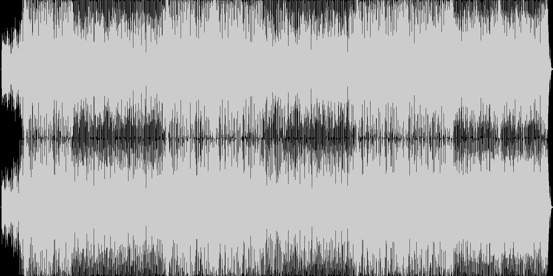 軽快でフレッシュなBGMの未再生の波形
