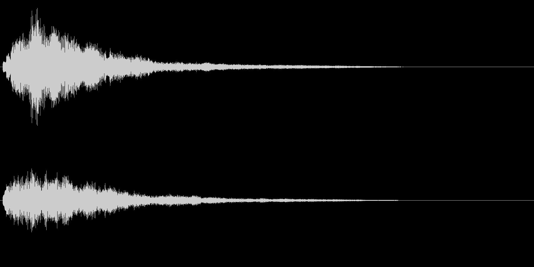 明るいテロップ音 ボタン音 決定音!01の未再生の波形