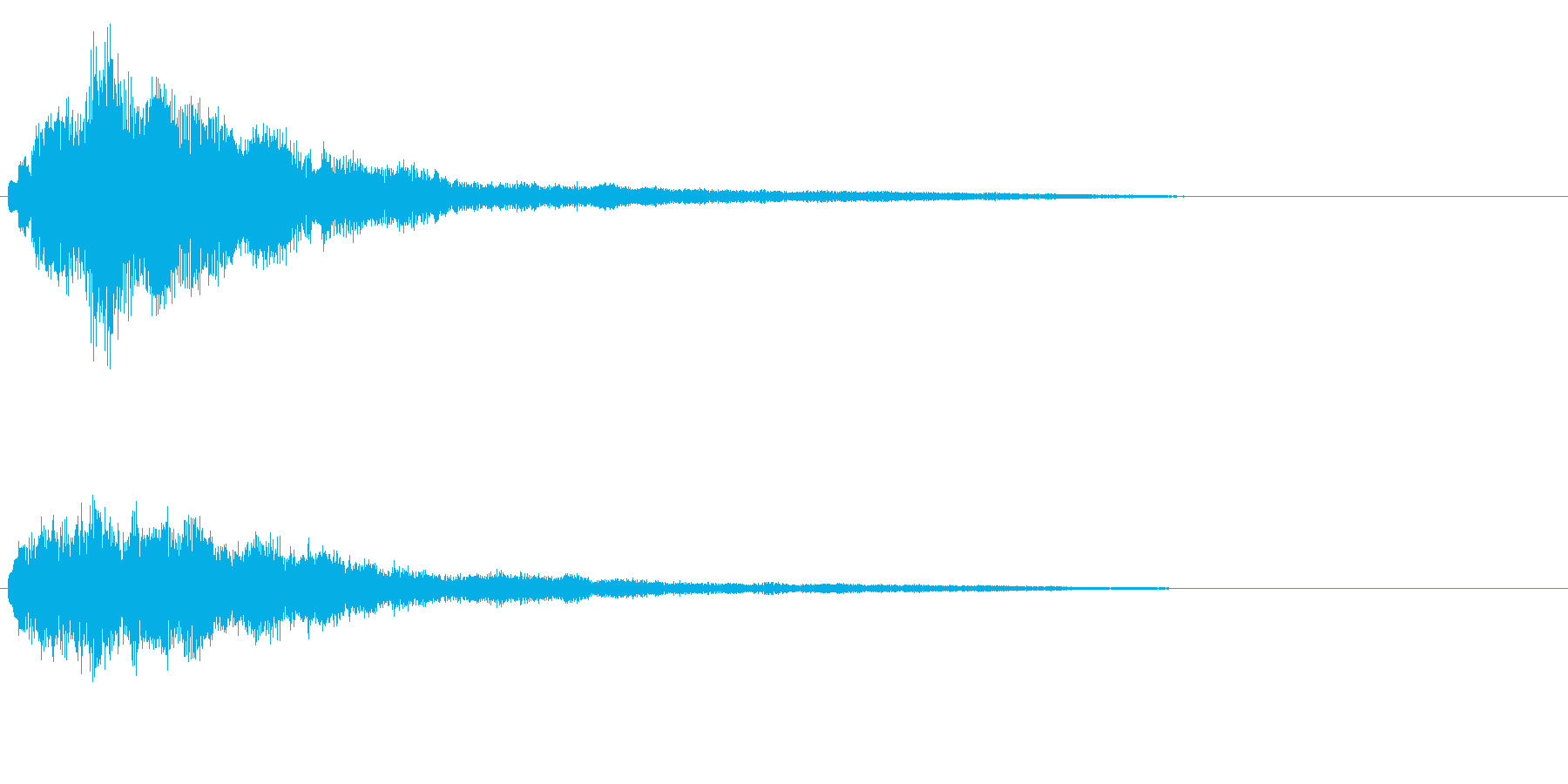 明るいテロップ音 ボタン音 決定音!01の再生済みの波形