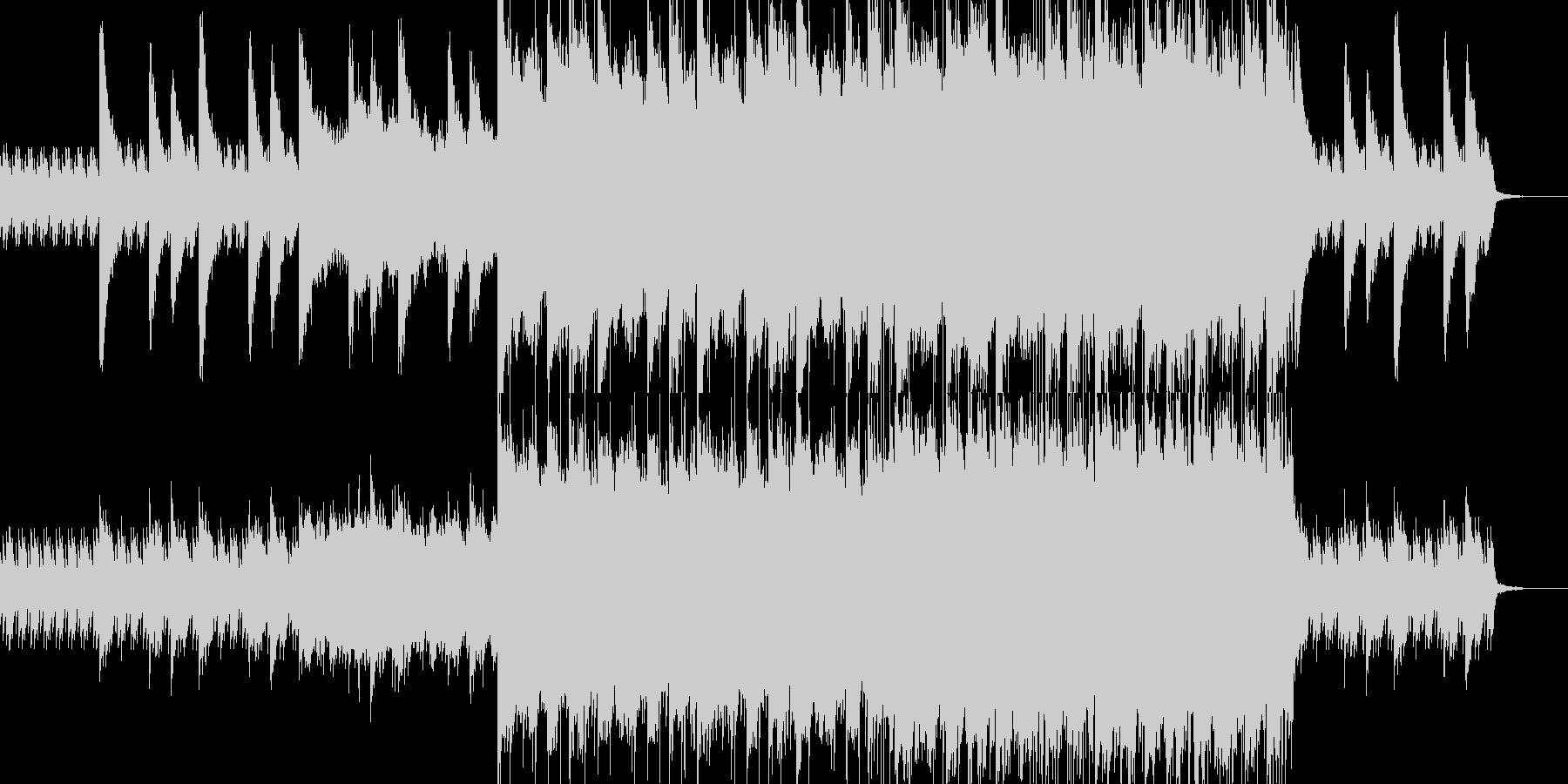 感動系ロックバラードの未再生の波形