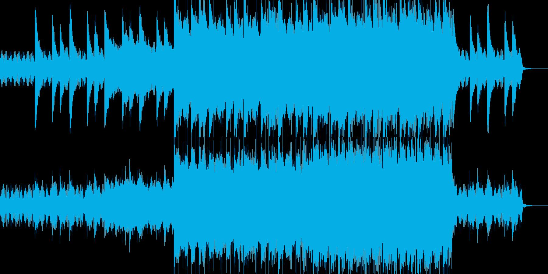 感動系ロックバラードの再生済みの波形