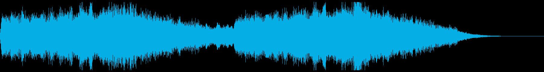 アクション映画風オーケストラジングルの再生済みの波形