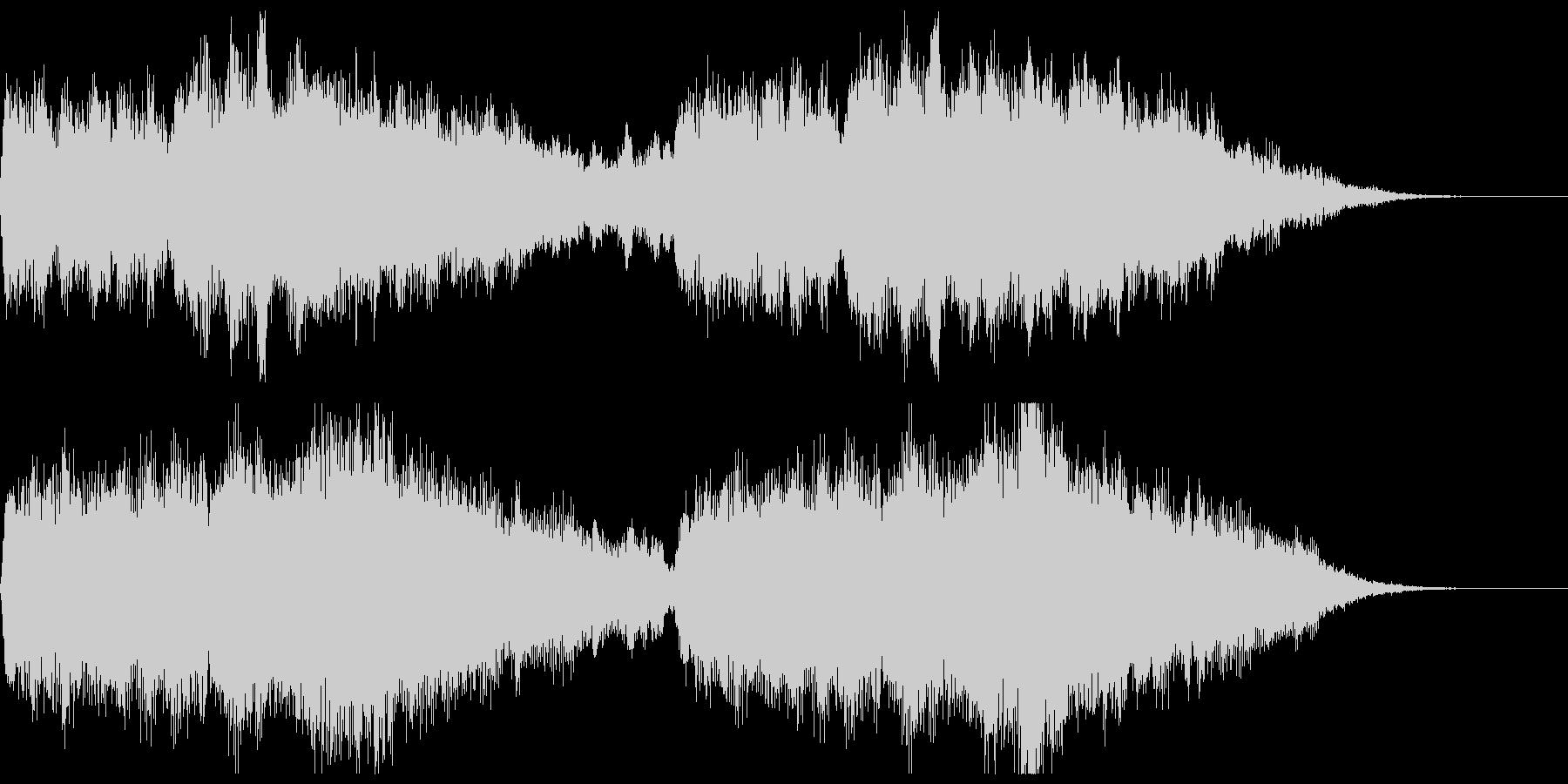 アクション映画風オーケストラジングルの未再生の波形