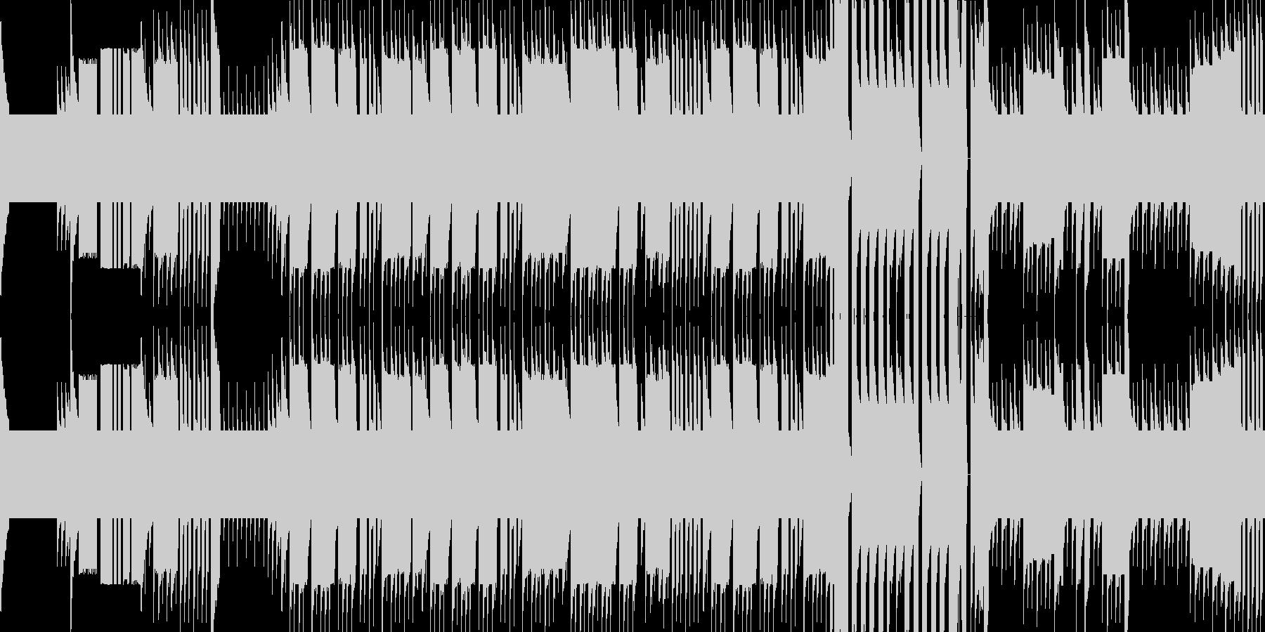 因縁の敵が現れた時のチップチューンBGMの未再生の波形