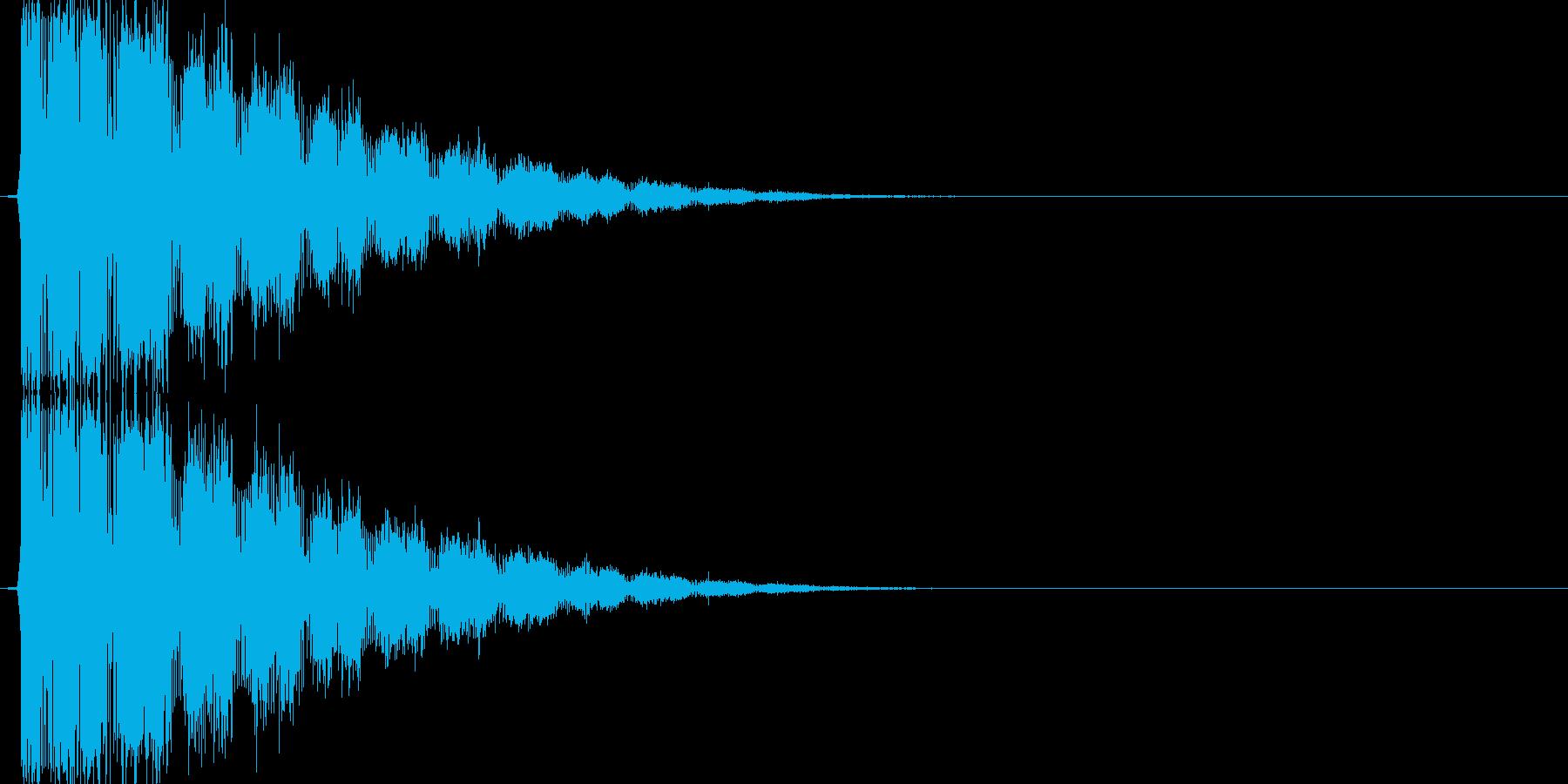 パワワーン(ショット音、STG)の再生済みの波形
