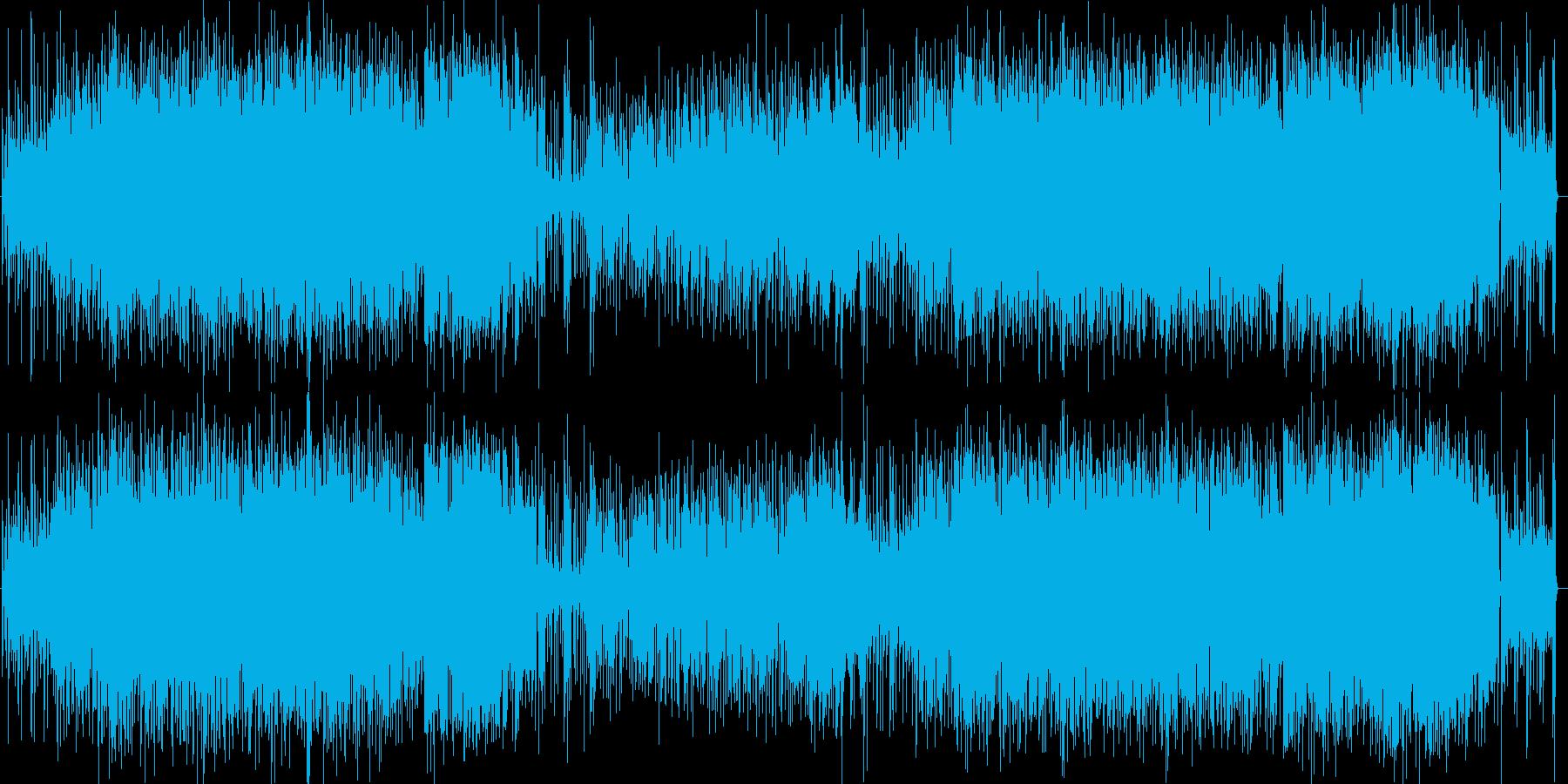 ファンク風味の日本語ポップロックの再生済みの波形