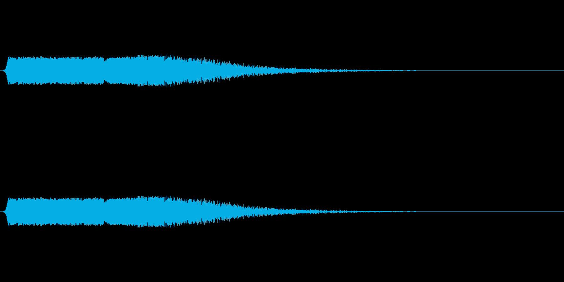 シューン:矢印が下降するような音の再生済みの波形