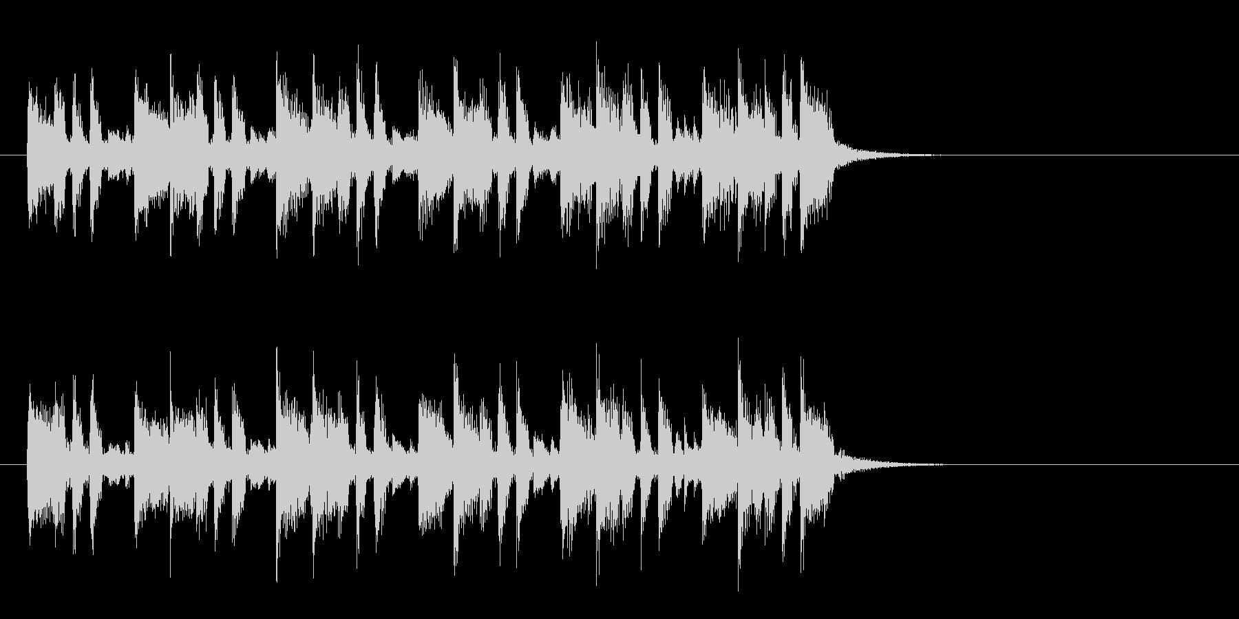 軽快なポップフュージョン(イントロ)の未再生の波形