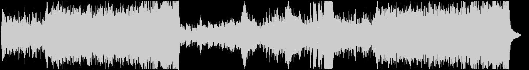 緊迫感のある6拍子のオーケストラBGMの未再生の波形