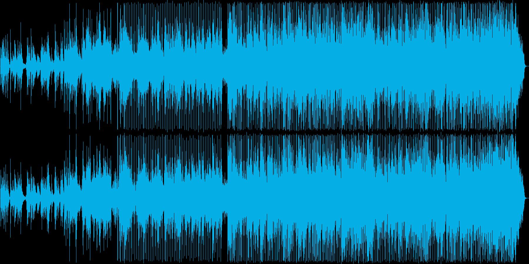 ギターの音色が印象的な楽観的なブルースの再生済みの波形