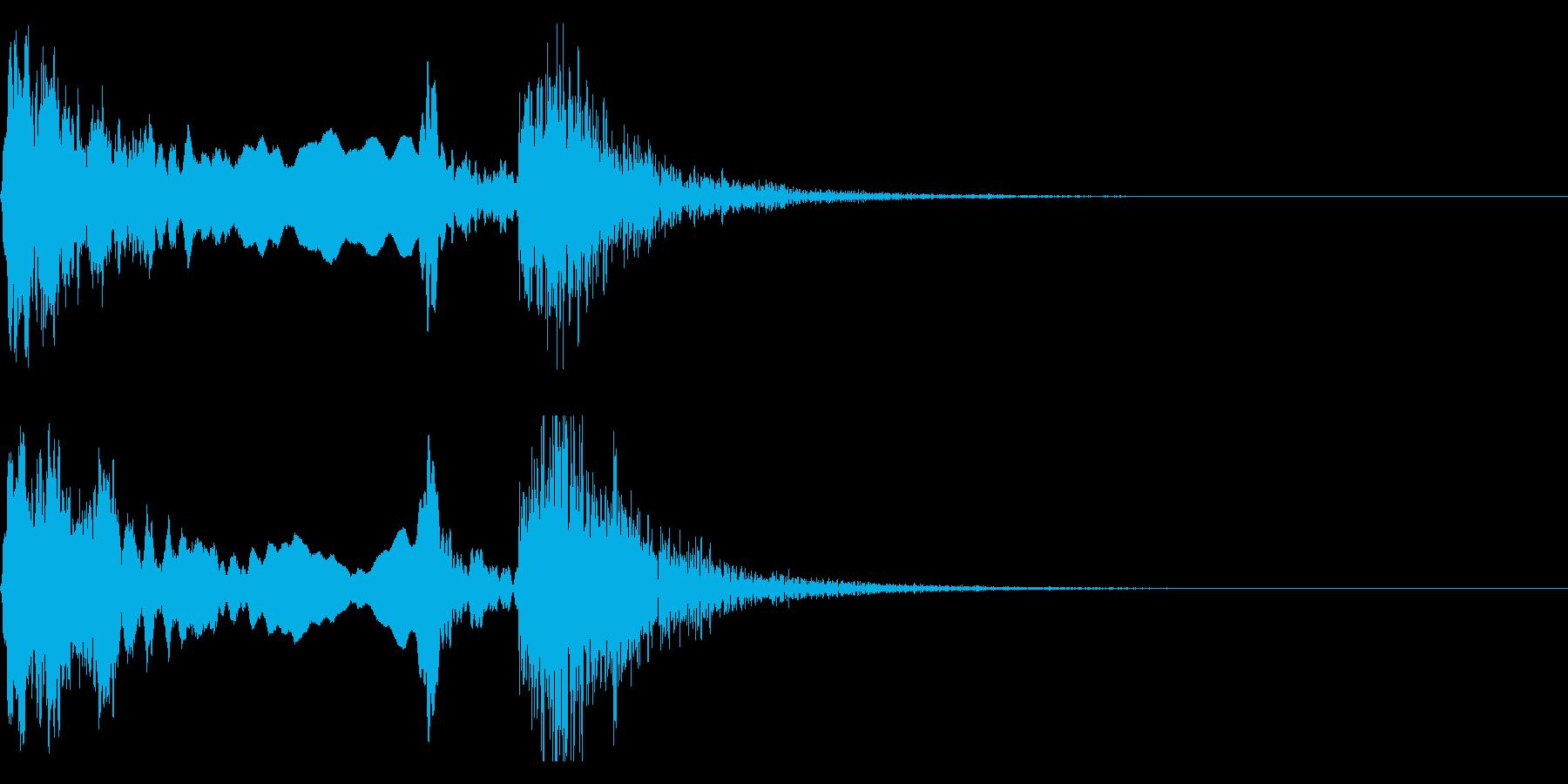 和風な歌舞伎の笛(能管)太鼓インパクト6の再生済みの波形