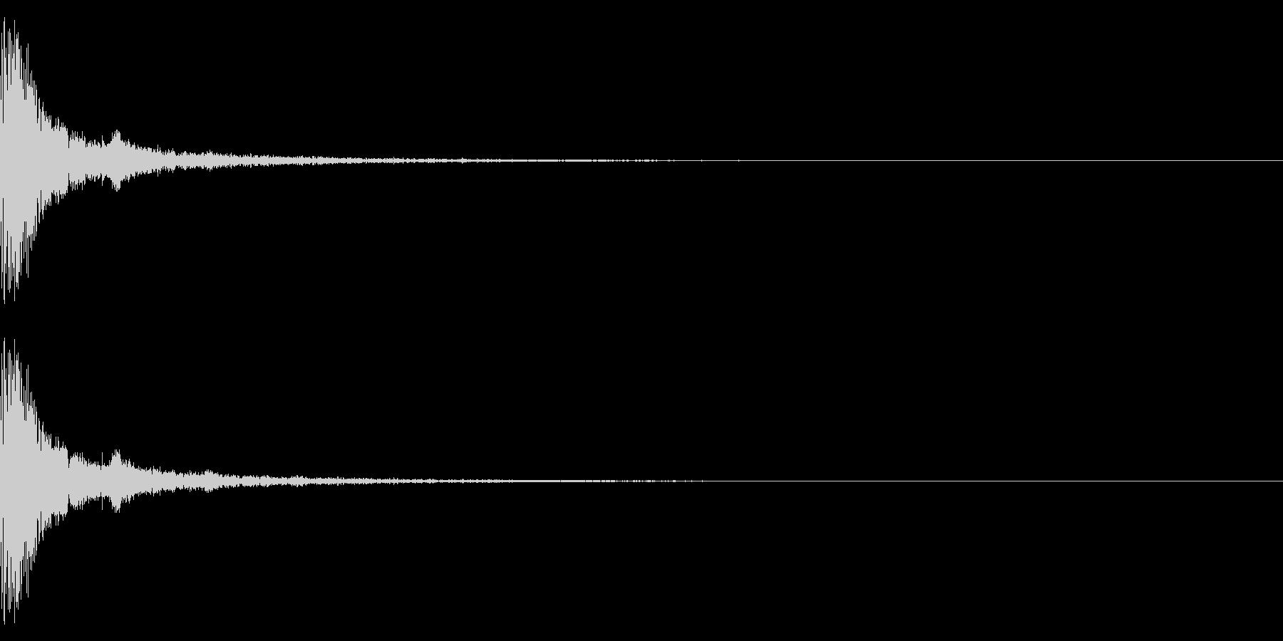 ポチッ+キラキラ(決定/選択/魔法)の未再生の波形