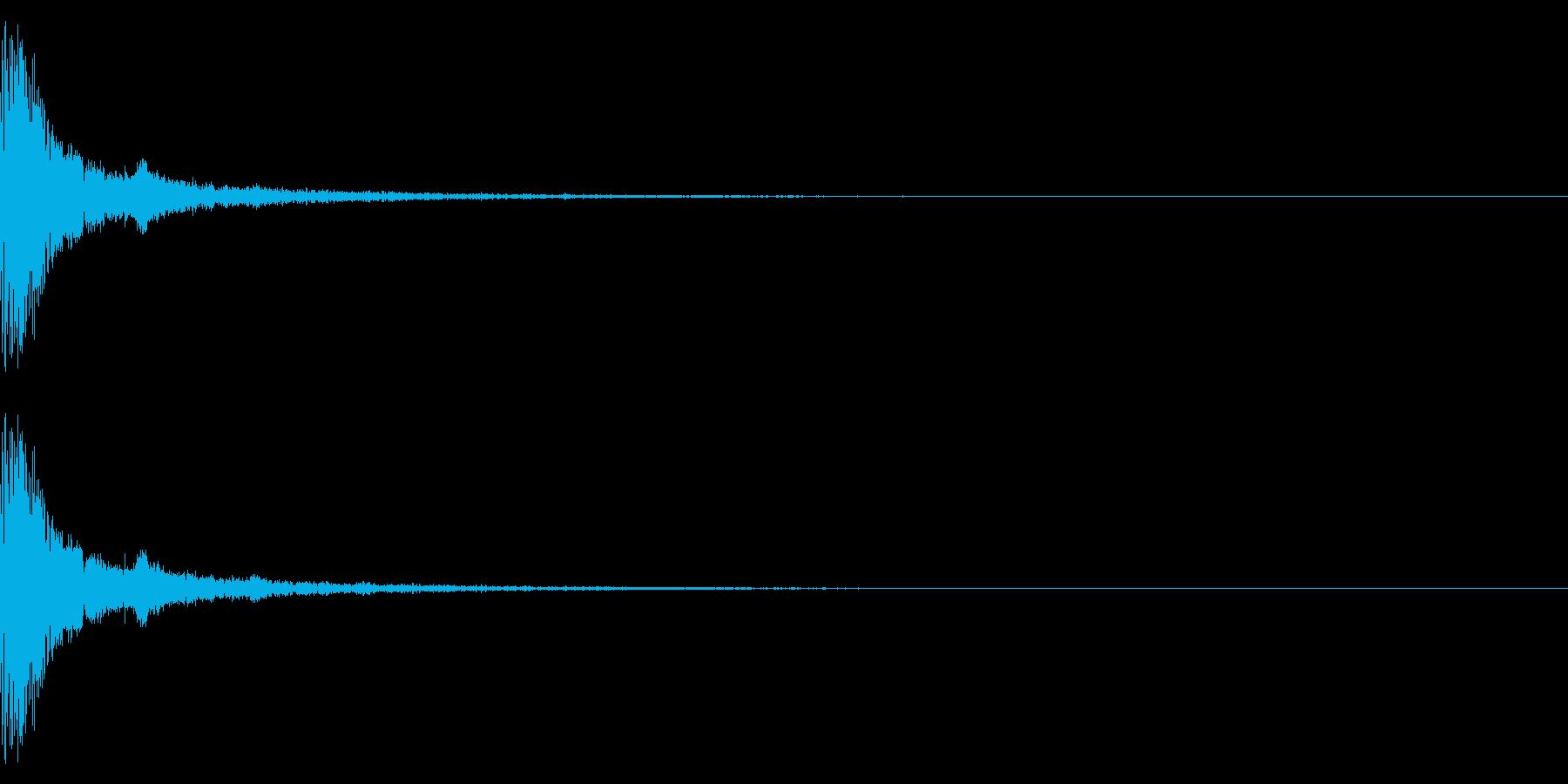 ポチッ+キラキラ(決定/選択/魔法)の再生済みの波形