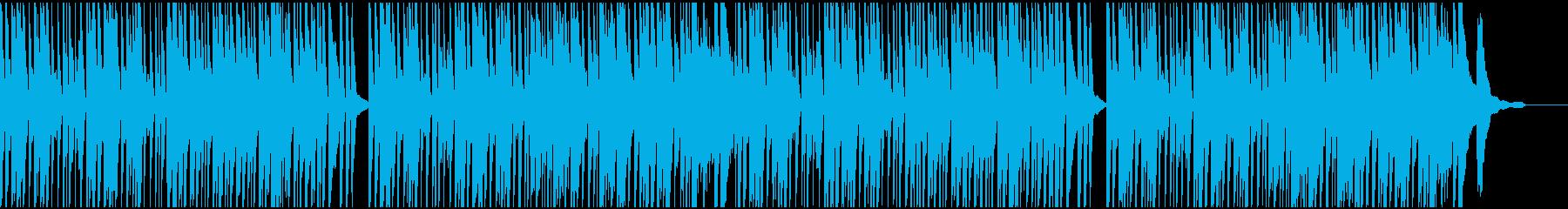 料理動画をイメージしたピアノ曲の再生済みの波形
