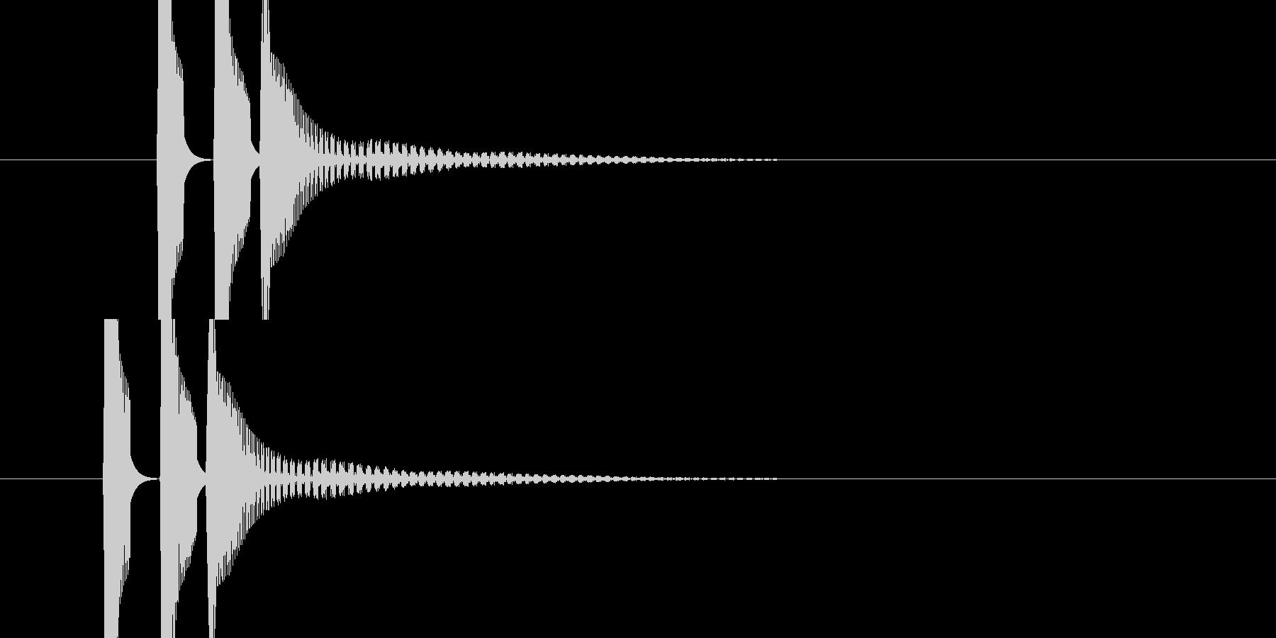ピコンの連音(発射音)の未再生の波形