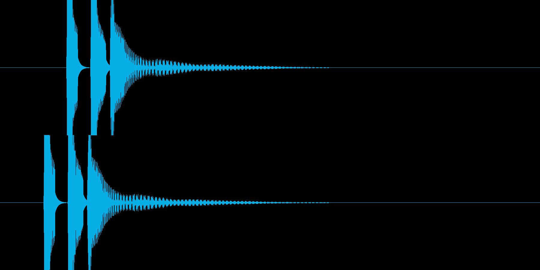 ピコンの連音(発射音)の再生済みの波形