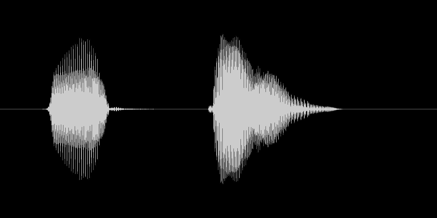 日本(にっぽん)の未再生の波形