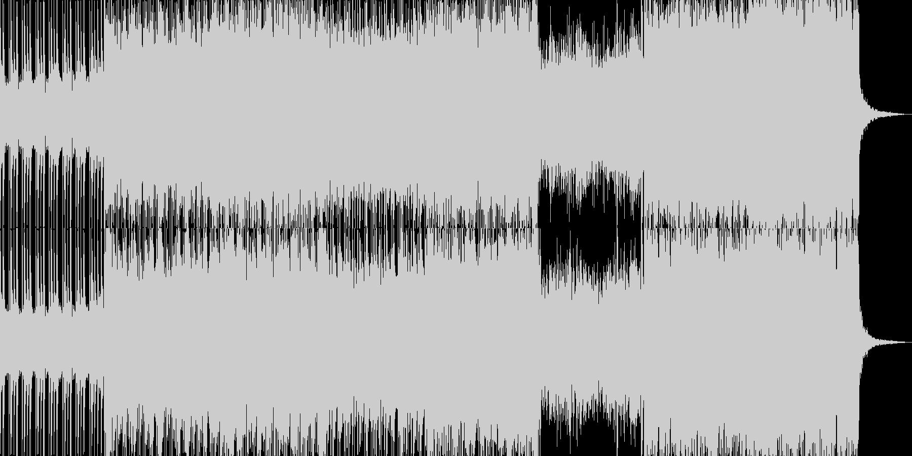 展開あるシンセとギターのスタイリッシュ曲の未再生の波形