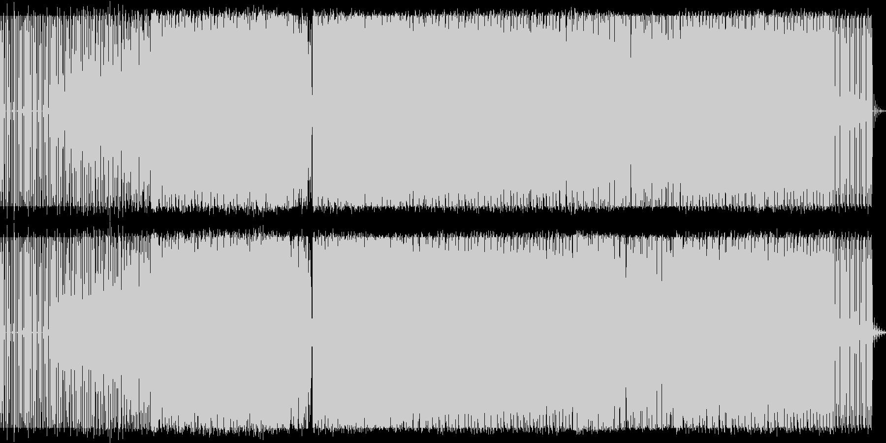 テクノミュージックの未再生の波形