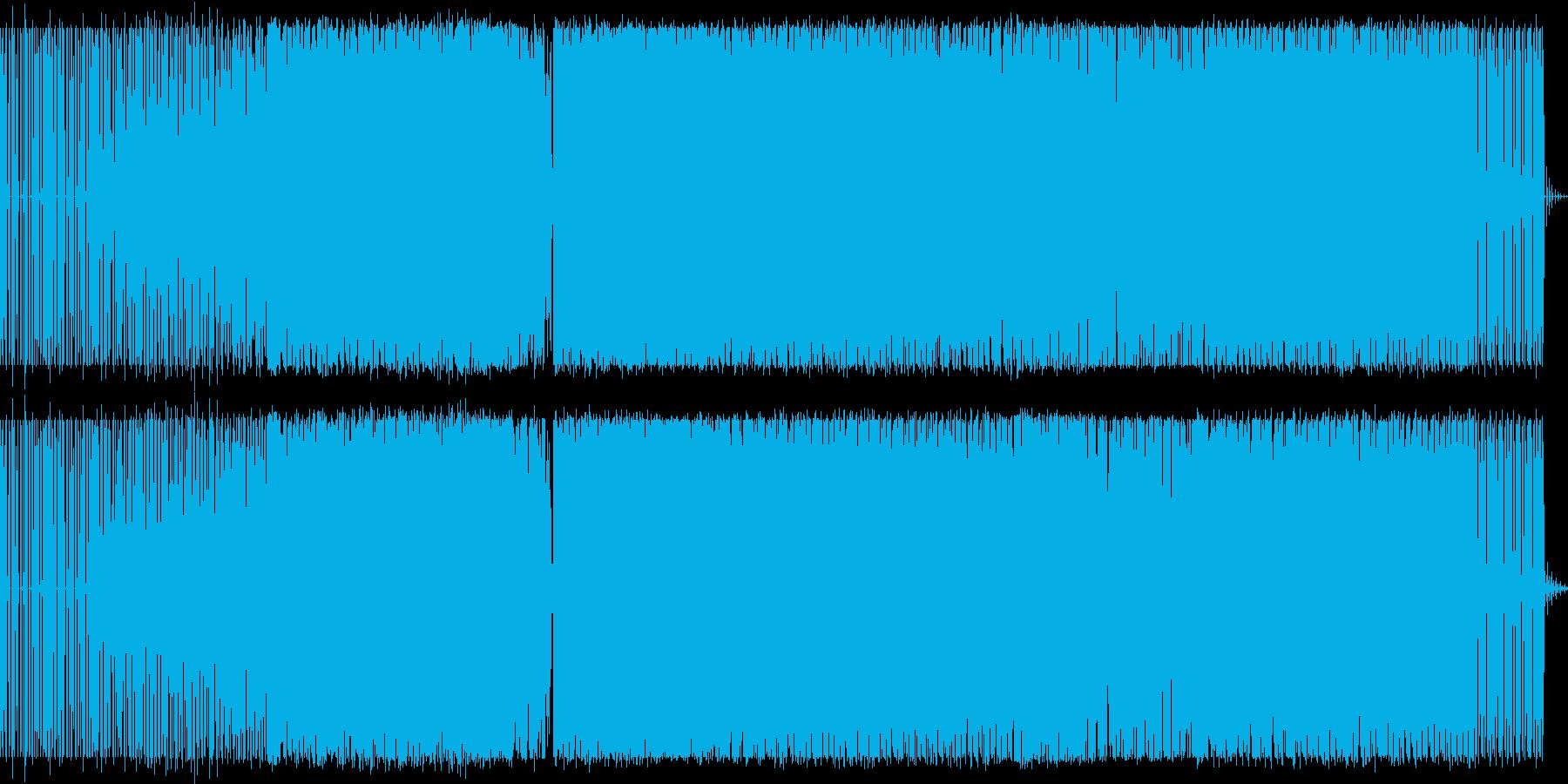 テクノミュージックの再生済みの波形