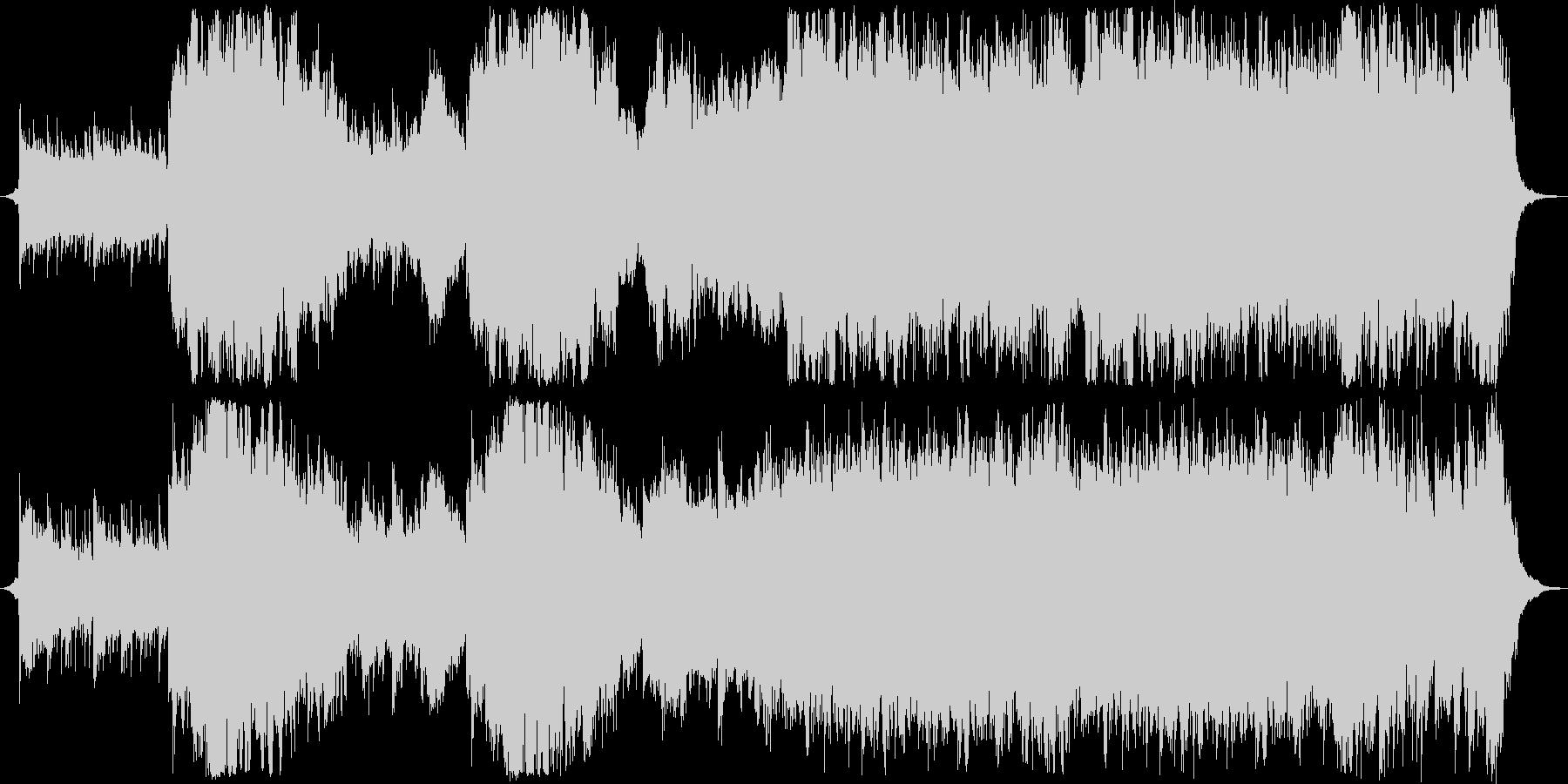 壮大なファンタジーオーケストラの未再生の波形