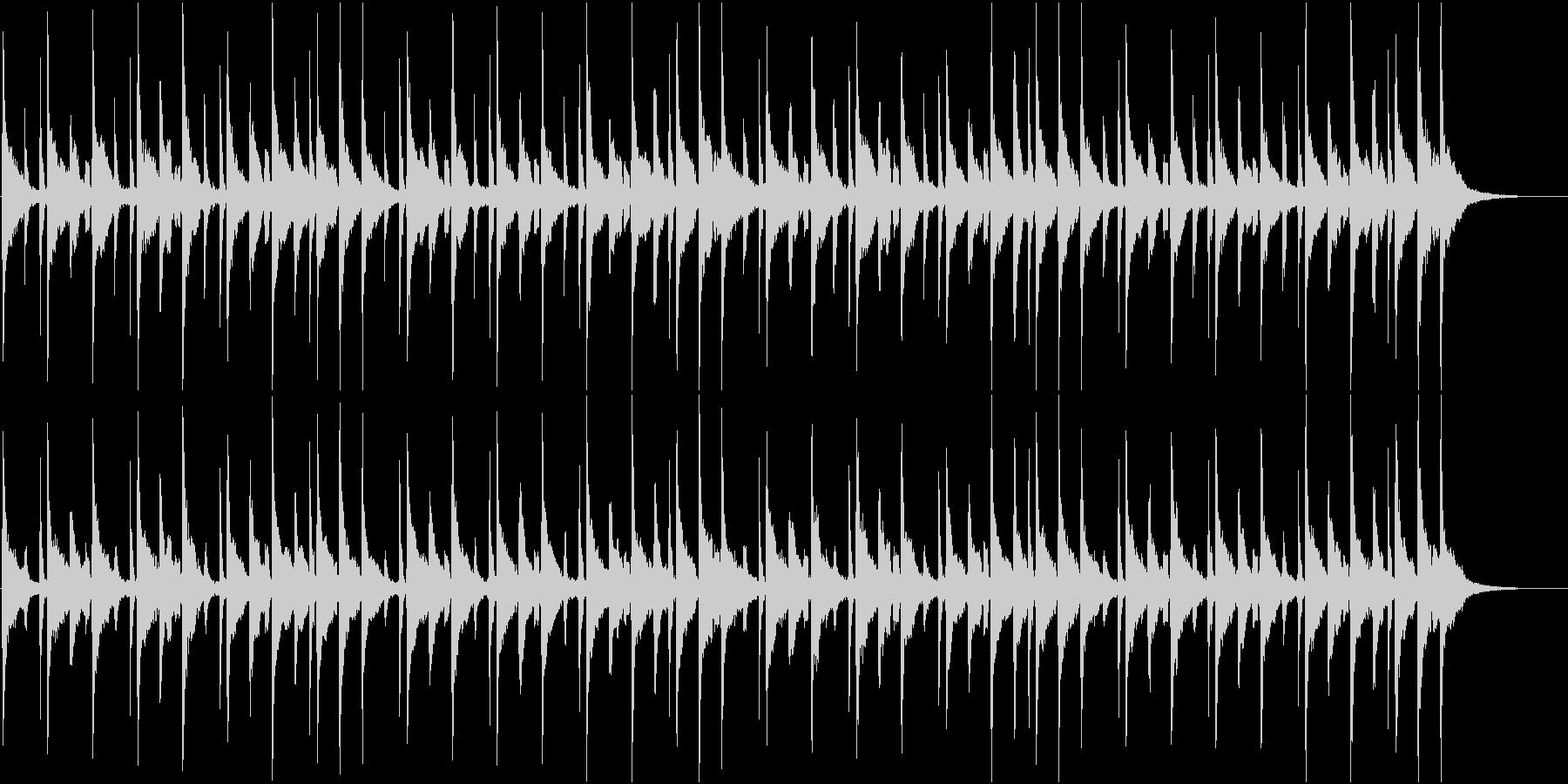どことなく日本風でほのぼのとしたバラードの未再生の波形