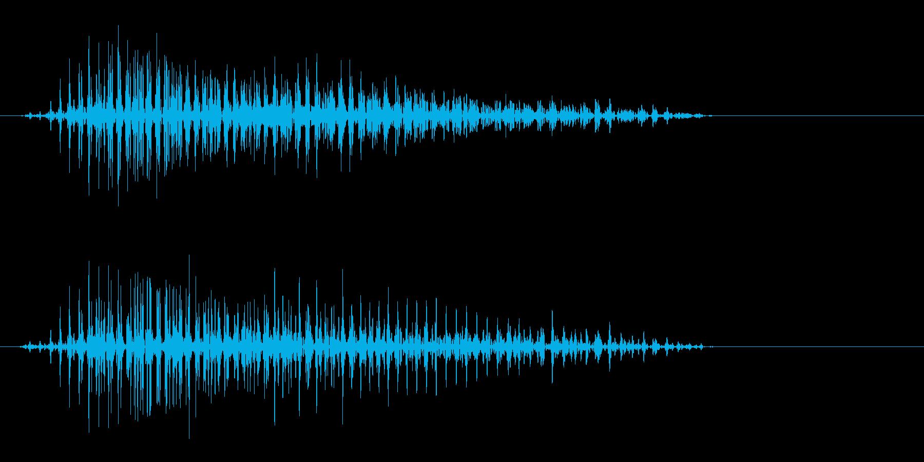 ヴゥン(上から下へ落ちる決定音)の再生済みの波形