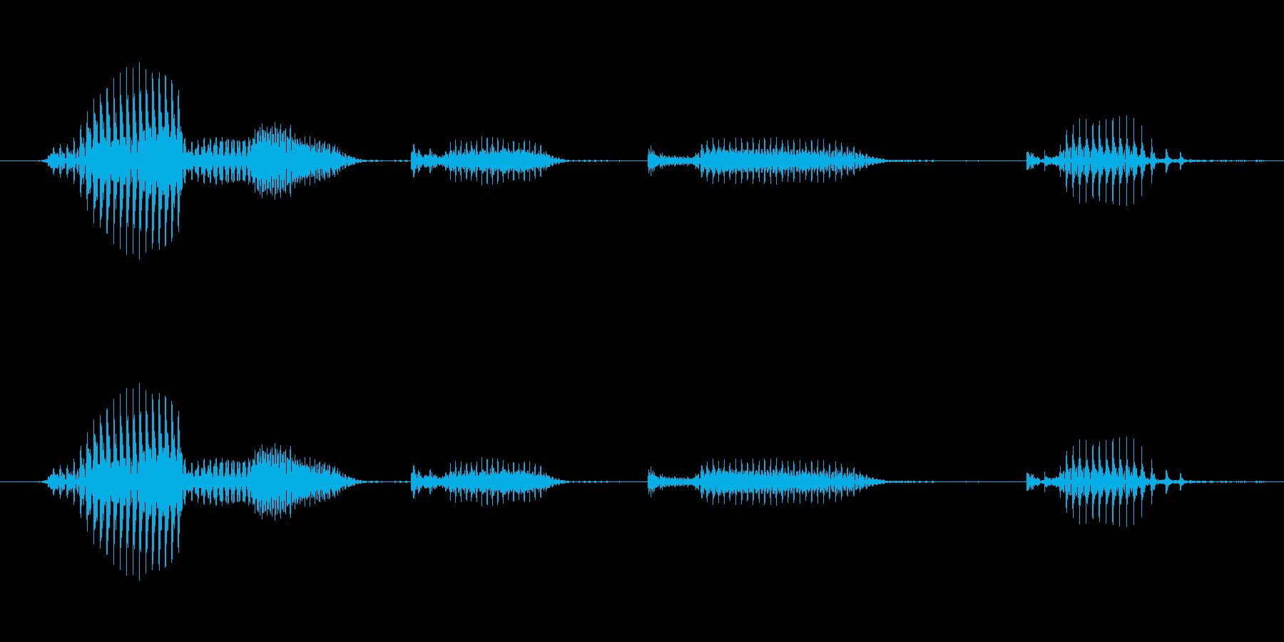 【日数・経過】7日経過の再生済みの波形