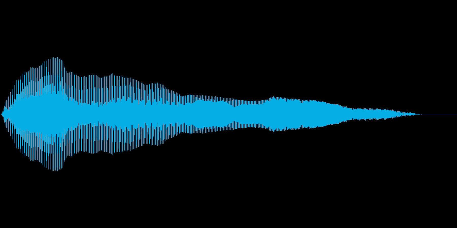 猫の鳴き声 残念の再生済みの波形